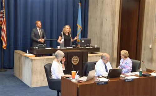 Rabbi Barbara Penzner addresses Boston City Council