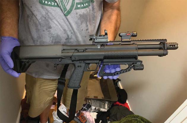 Seized shotgun