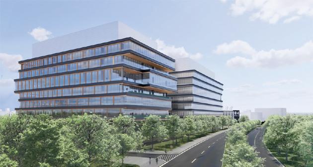 Rendering of proposed new buildings on Soldiers Field Road