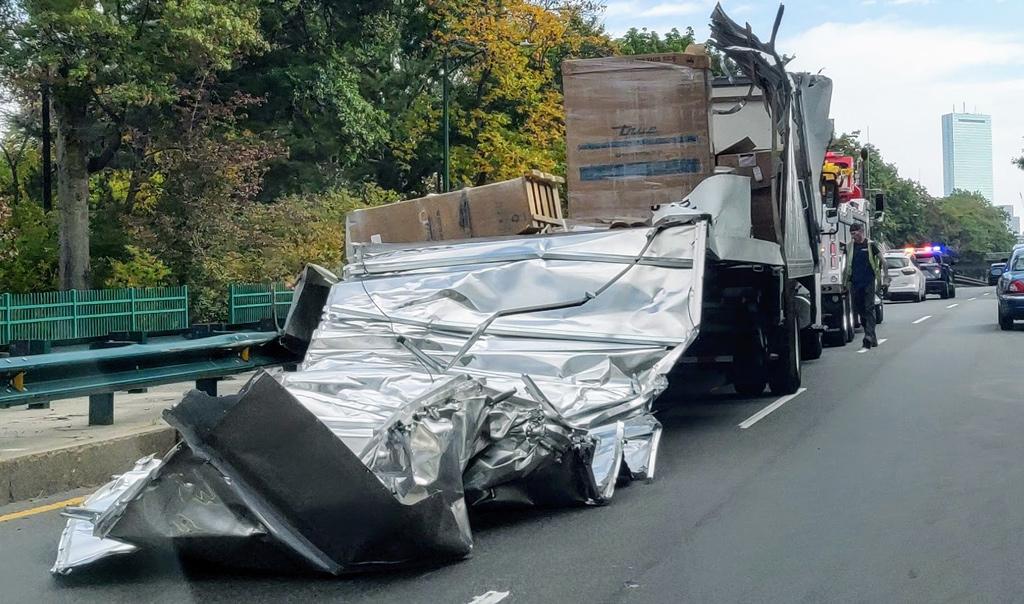 Storrowed truck on Storrow Drive