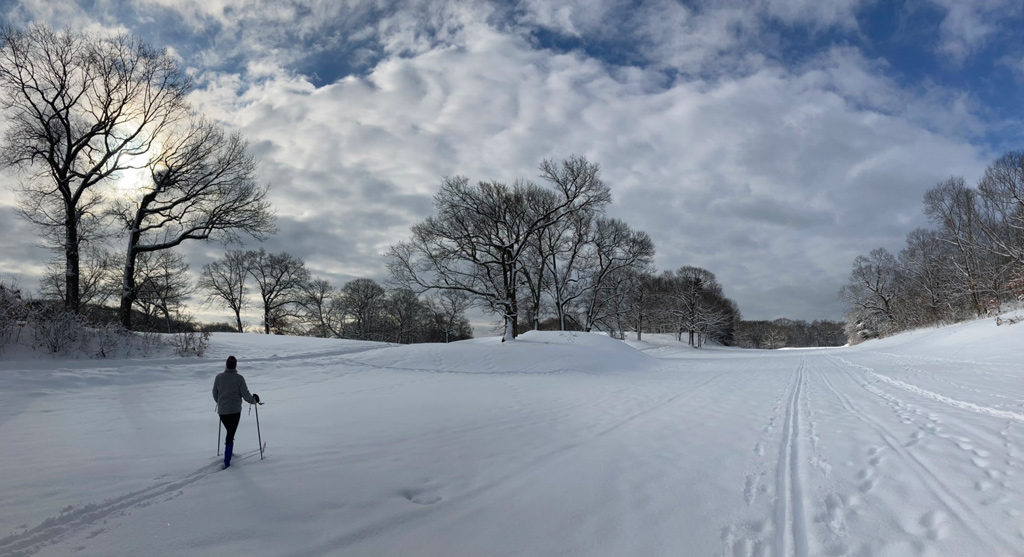 Skier at George Wright Golf Course