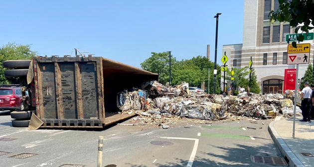Spilled trash at Main Street