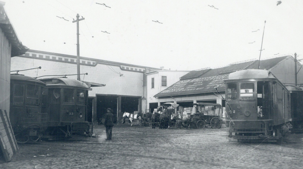 Old Boston trolley barn