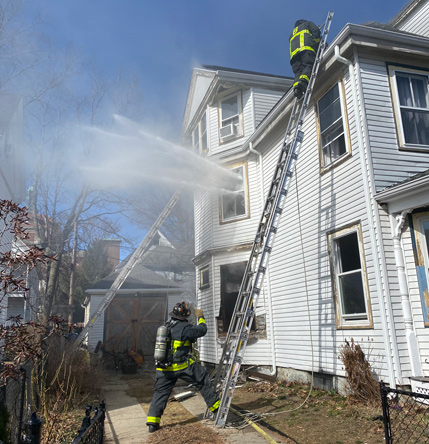 Firefighters at Sunnyside Street fire