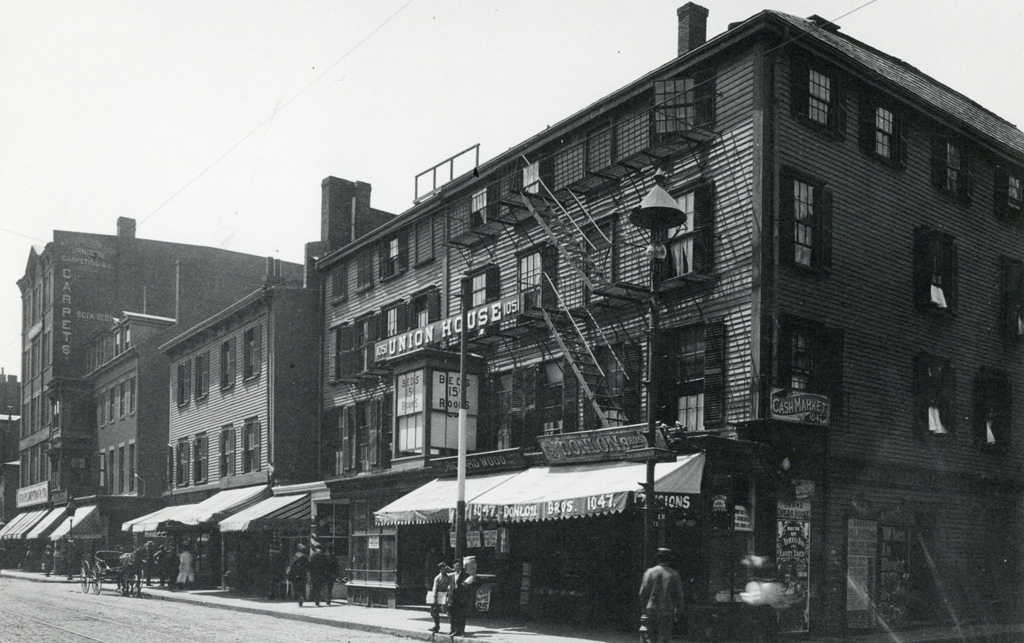 Union House and other buildings in old Boston