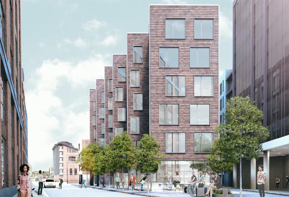 Proposed residential building at West 2 and Athens streets in South Boston