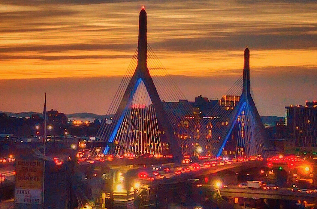 Zakim Bridge at sunrise