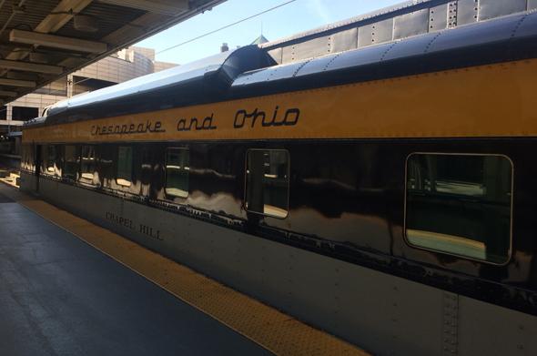 Chesapeake and Ohio passenger car at South Station