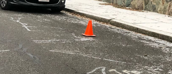 Cone on Walter Street in Roslindale