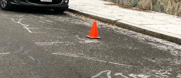 Cone on Walter Street in Roslindale