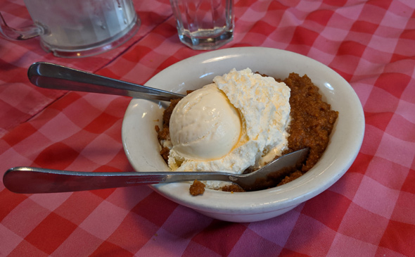 Indian pudding at Durgin-Park