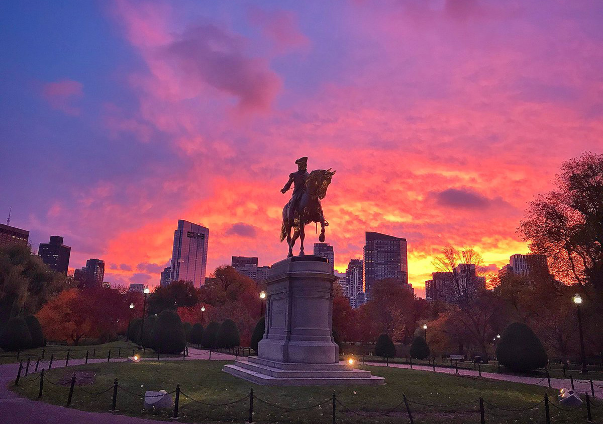 Sunrise over the Public Garden