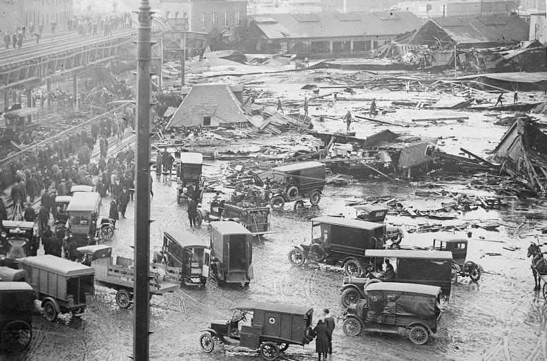 Molasses flood aftermath
