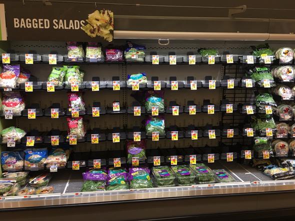 Lettuce lacking at the supermarket