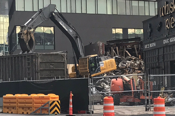 Atlantic Beer Garden gets torn down