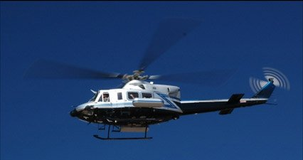 Copter alert: A federal helicopter will be flying low and