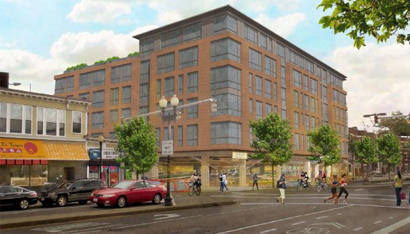 Proposed building at 89 Brighton Ave. in Allston