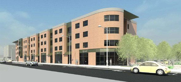 Proposed Clarion building on Blue Hill Avenue in Roxbury