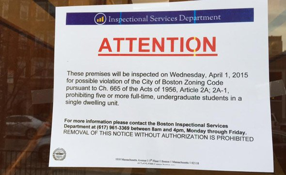 ISD warning sign in the Fenway