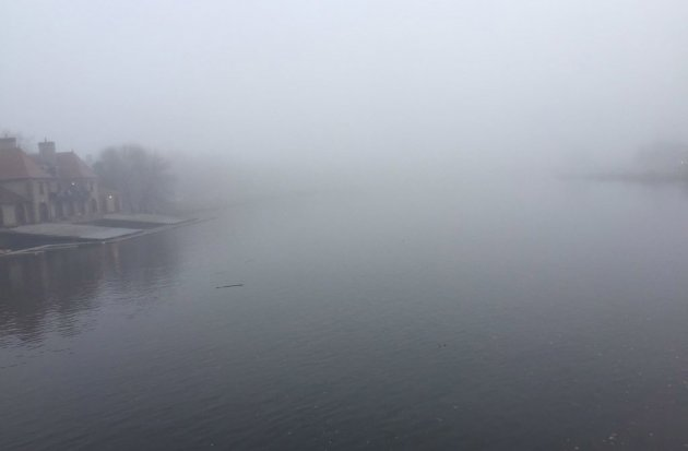 Charles River in the fog