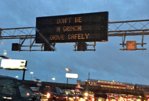 Don't be a grinch: Drive safely on Rte. 128