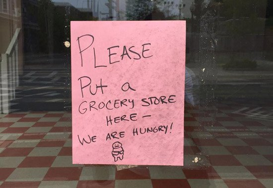Somebody wants a grocery store where the Harvest used to be on South Street in Jamaica Plain
