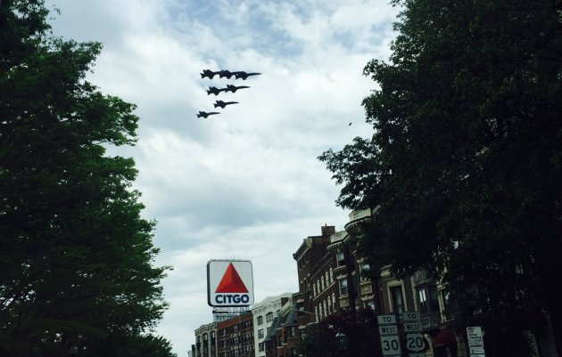 Blue Angels over Kenmore Square