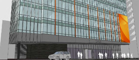 Proposed Marriott Moxie hotel in Theater District