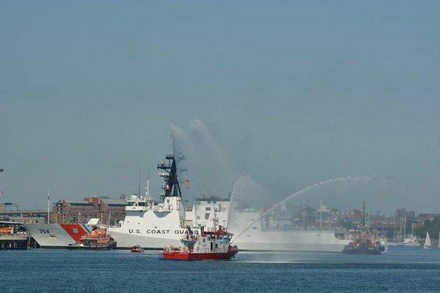 US Coast Guard Cutter James in Boston Harbor