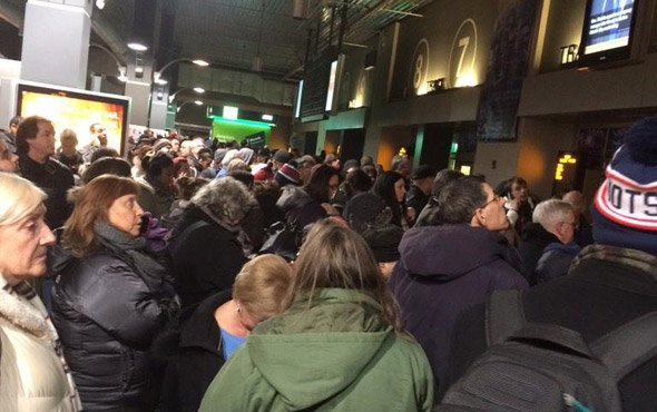 North Station crowds in advance of the Blizzard of 2015