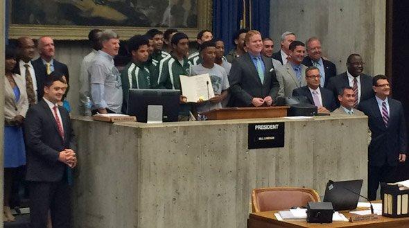 West Roxbury Raiders with city councilors