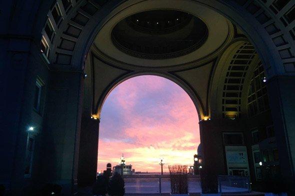 Sunrise at Rowes Wharf