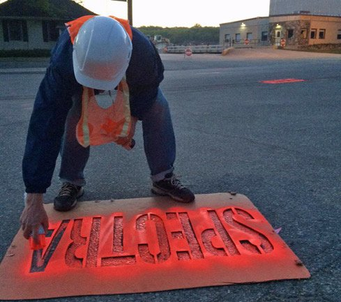 Protester in West Roxbury against Spectra pipeline