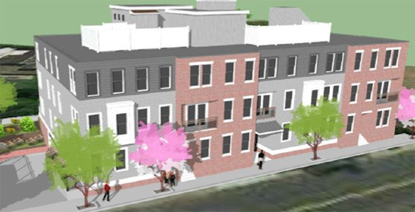 Architect's rendering of East Boston building