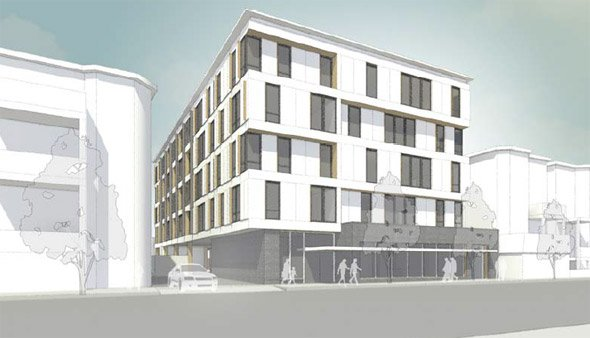 Proposed apartment building near Ashmont MBTA station in Dorchester