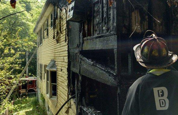 212 Austin St. fire damage in Hyde Park