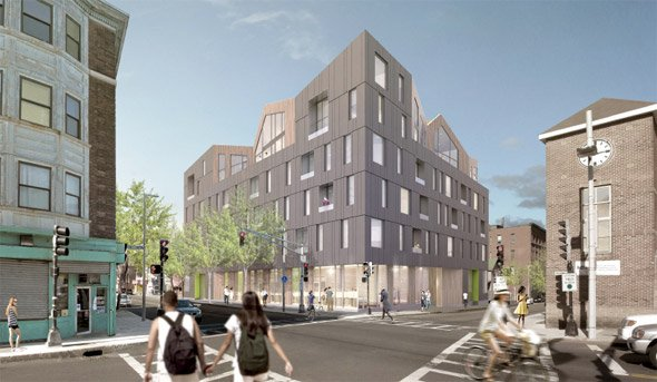 Proposed building at Washington and Green streets in Jamaica Plain
