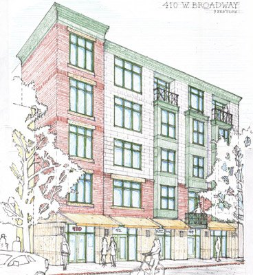 Proposed condos at 410 W. Broadway in South Boston