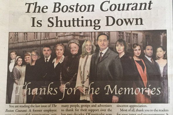 Boston Courant to go out of business