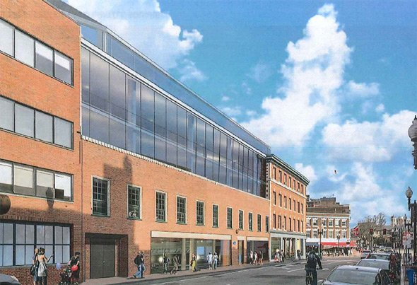 Proposed remake of block between Brattle and JFK streets in Harvard Square
