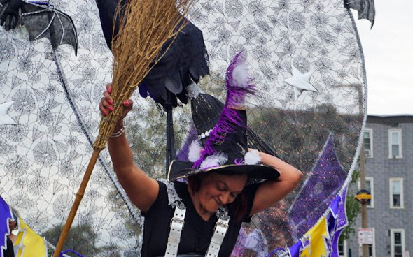 Witch in the Dorchester Day parade