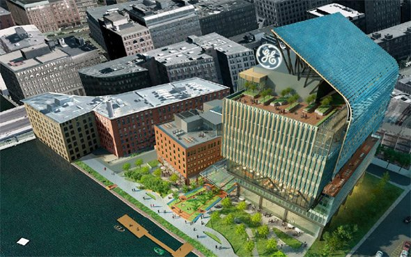 Proposed new GE building on Fort Point Channel in South Boston