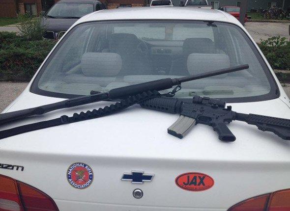 Guns on trunk