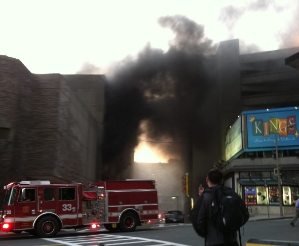 Transformer fire in the Back Bay