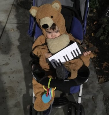 Baby Keytar Bear in Cambridge