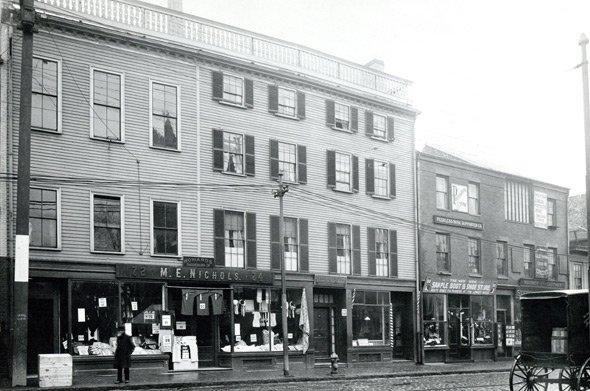 Old street scene in old Boston
