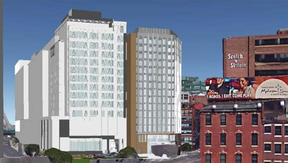 Proposed hotel at 88 N. Washington St. in Boston