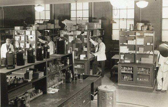 Old laboratory in Boston