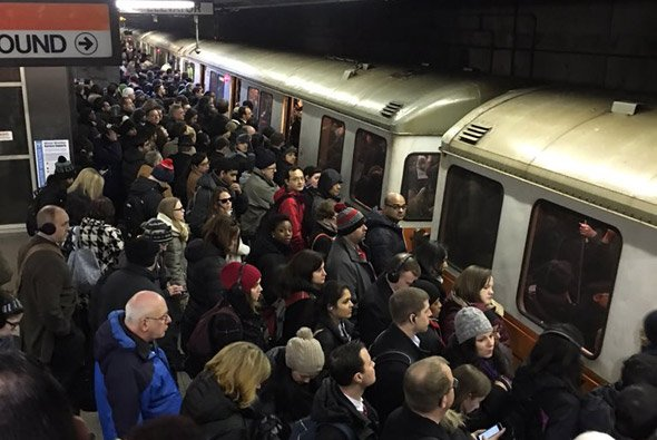 Commuter rail riders crushed at Forest Hills on the Orange Line
