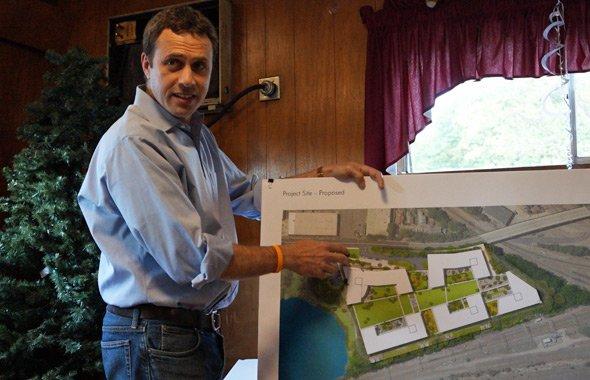 Jordan Warshaw shows his apartment proposal